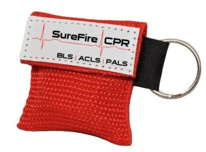 CPR Keychain Mask, CPR Barrier - Red