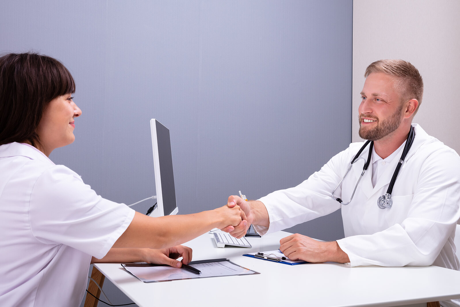 nurse and doctor interview