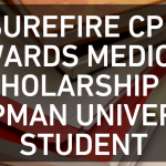 SureFire CPR Awards Medical Scholarship to Chapman University Student
